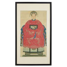Chinese Commemorative paintings, usually referred to as ancestor paintings, were used in China as an important part of ancestor worship. The portraits were usually near life size and painted from a frontal angle, with the subjects usually seated on elaborate chairs with the insignia of their rank and status visible. Original ancestor paintings are now rare and highly sought after. #ChineseWallArt