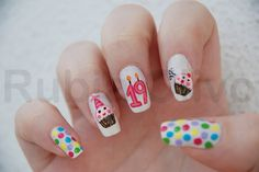 """Here we are with these awesome and amazing looking """"Birthday Nail Art Designs"""", as we all know that this birthday event is a special event and each one of us. Birthday Nail Art, Birthday Nail Designs, Gel Nails, Acrylic Nails, Nail Polish, Nail Nail, Cute Nails, Pretty Nails, Special Nails"""