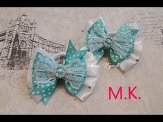 Красивые нарядные бантики из атласных лент за 10 минут/Beautiful elegant bows in 10 minutes. - YouTube