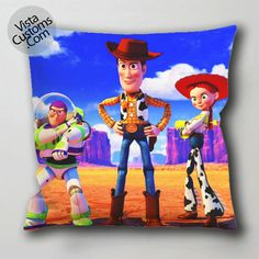 buzz lightyear sheriff woody jessie toy story pillow case, cushion cover ( 1 or 2 Side Print With Size 16, 18, 20, 26, 30, 36 inch )