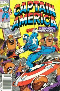 Cover for Captain America (Marvel, 1968 series) #385 [Direct Edition]