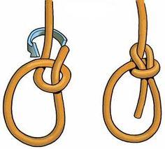 GEAT - Lais de Guia - Utilizado para formar uma alça que não corre. É um nó para salvamento. Tem a vantagem de poder ser feito utilizando apenas uma das mãos. Útil quando precisamos usar uma das mãos para se agarrar num barranco, ou como se estivesse caído dentro de um buraco com o braço quebrado.