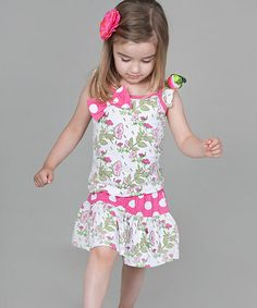 Take a look at this Green Floral Tank & Skirt - Infant, Toddler & Girls by Prints on Parade: Girls' Dresses on #zulily today!