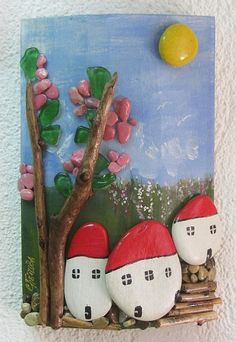 painted pebbles, $21 Spring,fairy tale,romantic home,new home,fantastical,peculiar,funny,feak,old tree,marvellous,sun,forest,rustic