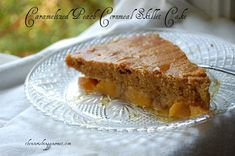 Caramelized Peach Cornmeal Skillet Cake- made with unrefined sweeteners and whole grain! (Would need to arrange for the proper flour. Real Food Recipes, Baking Recipes, Snack Recipes, Dessert Recipes, Healthy Desserts, Delicious Desserts, Healthy Recipes, Coconut Sugar Recipes, Gourmet