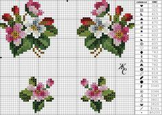 Gallery.ru / бутоньерка два мака - маленькие схемы - pustelga