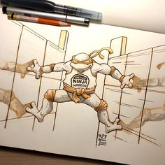 """Inktober Day 27 """"CLIMB"""" Rolling into the home stretch with a Teenage Mutant American Ninja Warrior Turtle. Home Stretch, American Ninja Warrior, Teenage Mutant, Supergirl, Inktober, Turtle, Drawings, Projects, Sketches"""