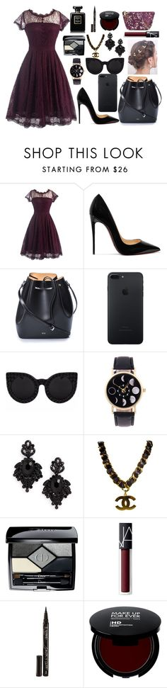 """""""one of my favorites"""" by starry-night2021 ❤ liked on Polyvore featuring Christian Louboutin, N°21, Delalle, Tasha, Chanel, Christian Dior, NARS Cosmetics, Smith & Cult and Merona"""