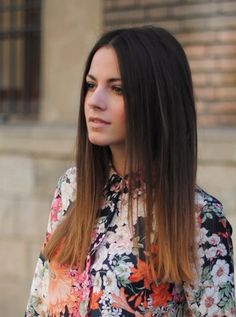 Medium Hairstyle » dark ombre hair 2 colors