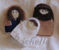 Richelle's Creative Corner: Nativity Finger Puppets