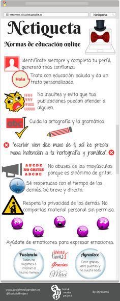 Infografia Netiqueta: normas de educación online vía: http://www.socialmediaproject.es #infografia #infographic #internet