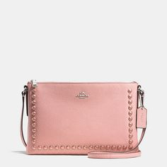 Journal Crossbody Bag in Laquer Rivets Pebble Leather by Coach