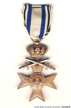 WWI German Medal Military Cross Merenti with Swords and Crown.