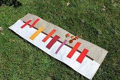 Another Sneak Peek from Improvising Tradition | Teaginny Designs | Bloglovin'....autumn table runner