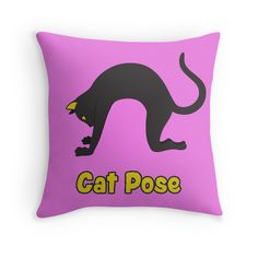 Animal Yoga Cat Pose Black. If you like yoga then you know how good this pose feels. Now you can get it on almost any product you like at Redbubble.