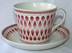 Gefle Lillemor röd AU-2 Fika, Porcelain Ceramics, Retro, Cup And Saucer, Dinnerware, Scandinavian, Tea Cups, Objects, Pottery