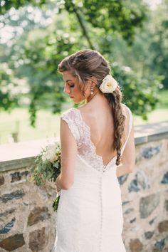 Photography: Lauren Fair Photography - http://www.stylemepretty.com/portfolio/lauren-fair-photography Wedding Dress: Watters - watters.com   Read More on SMP: http://www.stylemepretty.com/2014/01/30/french-inspired-winery-wedding/