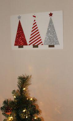 Irish Italian Blessings: DIY Scrapbook Paper Tree Holiday Art