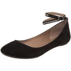 $210.60-$260.00 Belle by Sigerson Morrison Women's Rhinestone Strap Flat, Black Suede, 9 M US -  http://www.amazon.com/dp/B003TU10V6/?tag=icypnt-20