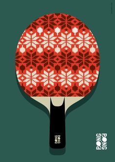 © 2016 Christian Chladny / www.chladny.com // Outdoor Ping Pong / Table Tennis Event Poster - Christmas Jumper // Identity, Art Direction, Graphic Design, Illustration