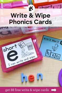 Sometimes revamping a space in the classroom or adding a new engaging activity to a station is just what you and your students need to spice things up! Take a look at these Write & Wipe Phonics Cards! #Phonics #teaching #teacher #learning #FREE