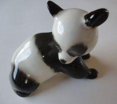Panda Bear Baby, Beautiful Porcelain Panda Bear Figurine Made In USSR