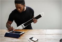 Have a full suite of music right at your fingertips with the Artiphon INSTRUMENT This incredible device can be played as a guitar, drum pad, synthesizer, a piano, and so much more. Connecting to… Musical Instruments, Audio Studio, Drum Pad, Tech Toys, Musicals, The Incredibles, Technology, Gadget News, Violin