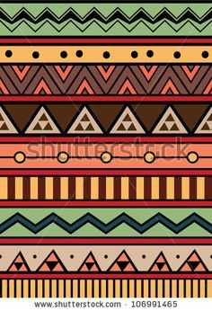 Abstract geometric. Aztec style pattern with triangle and line