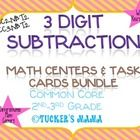 3 Digit Subtraction Math Centers Bundle  4 Differentiated Math Centers  Common Core Aligned  2nd-3rd Grades *Great 4th Grade Review  MCC2. NBT. 2  MCC3....