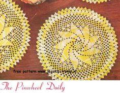 Crochet Pinwheel Doily - free pattern from Star Doily Book No. 104  American Yarn Company  1953