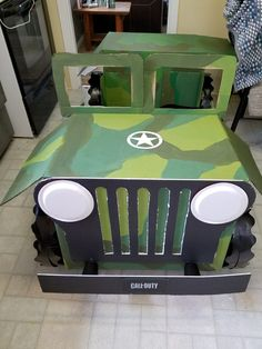 Kids Army Costume, Diy Halloween Costumes For Kids, Army Party, Nerf Party, Kids Jeep, Odyssey Of The Mind, Homecoming Floats, Safari Jeep, Lego Baby