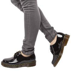 Women's Black Dr Martens 1461 Shoe Patent at schuh // Twitter: @TwerkOnBradley // Bought my DM's from @Jess Liu Sutton Schuh love 'em