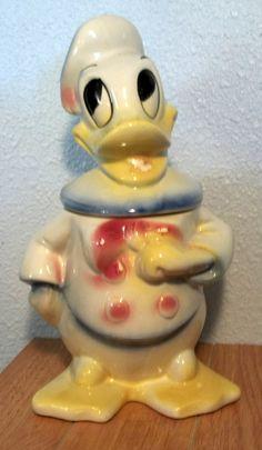 RARE 1940's Leeds Cookie Jar Donald Duck Mint Disney Cartoon Collection Vintage | eBay