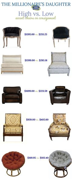 High vs. Low | Accent Chairs on Consignment