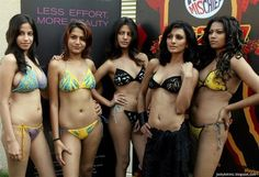 Beautiful Indian Desi Bikini Girls Group Photo