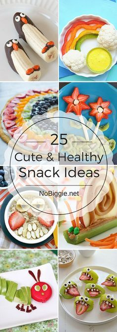 25+ Cute & Healthy Snack Ideas ~ The Apple Bites crack me up!