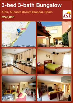 Bungalow for Sale in Albir, Alicante (Costa Blanca), Spain with 3 bedrooms, 3 bathrooms - A Spanish Life Alicante, Altea, Bungalows For Sale, Living Room, Bathroom, Storage, Bed, Furniture, Home Decor