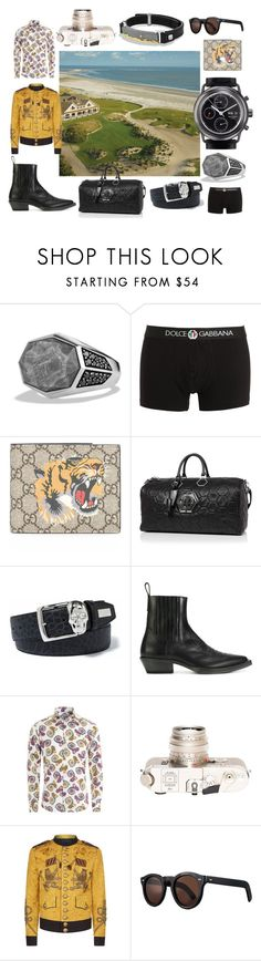 """""""The Sanctuary at Kiawah Island, SC"""" by gervoisrating ❤ liked on Polyvore featuring Alexandre Meerson, David Yurman, Dolce&Gabbana, Gucci, Maison Margiela, Leica, Cutler and Gross, men's fashion and menswear"""