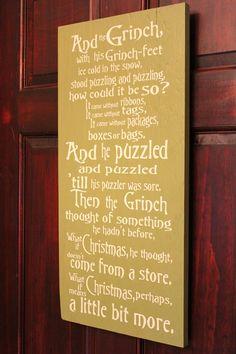 Grinch Christmas Sign.
