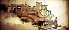 This Train is bound for Glory _ Toon Vugts Produksies _ Editorial illustration ' Technisch Weekblad'