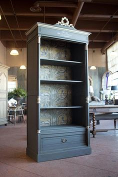 Antique and Vintage Bookcases - For Sale at - Antique French Bookcase Upcycled Furniture, Furniture Projects, Rustic Furniture, Cool Furniture, Painted Furniture, Furniture Design, Furniture Storage, Modern Furniture, Antique Furniture
