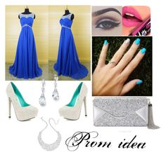 """""""Prom idea 1"""" by lozza-b15 on Polyvore featuring beauty, TaylorSays, Fiebiger, BCBGMAXAZRIA, Palm Beach Jewelry and Kate Spade"""