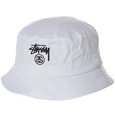 STUSSY BASIC BUCKET HAT WHITE