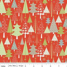 Red Green And Grey Christmas Tree Flannel, A Merry Little Christmas By Zoe Pearn…