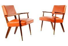 Midcentury  Armchairs, Pair