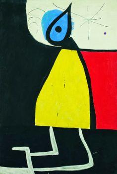 Mujer en la noche. Joan Miró.                                                                                                                                                                                 Más