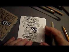 Melinda Barlow CZT and Zentangle Meets Typography: How to draw Zentangle