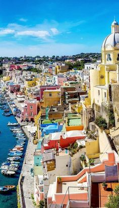Procida Island in Naples is absolutely breathtaking. #island #Naples #Travel #italy