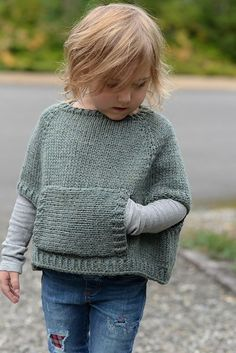 Odila Cape Pullover Knitting pattern by The Velvet Acorn Children poncho knitting pattern for your little one! Find this pattern by The Velvet Acorn and more knitting inspiration from indie designers at LoveKnitting. Baby Knitting Patterns, Knitting For Kids, Knitting Projects, Crochet Patterns, Baby Sweater Patterns, Easy Knitting, Knitting Ideas, Knitting Yarn, Velvet Acorn