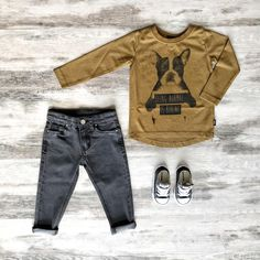Buy cool kids clothes online from all the best brands at Tiny Style in Australia. Toddler Boy Outfits, Toddler Boys, Kids Outfits, Jeans And Converse, Converse Sneakers, Kids Winter Fashion, Cool Kids Clothes, Kid Closet, Boys Style